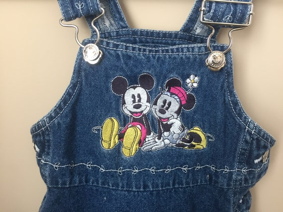 Vintage Mickey & Minnie Mouse Overalls DRESS for B