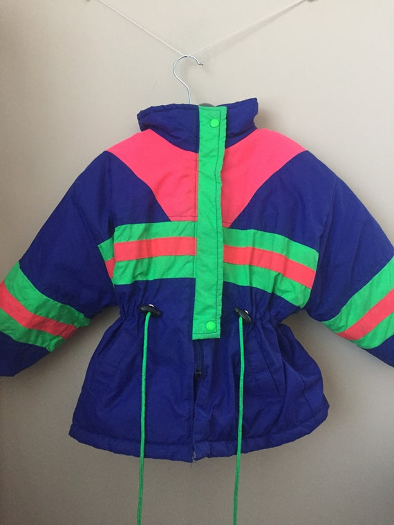 Vintage Early 1990s Neon Fall or Winter Jacket for