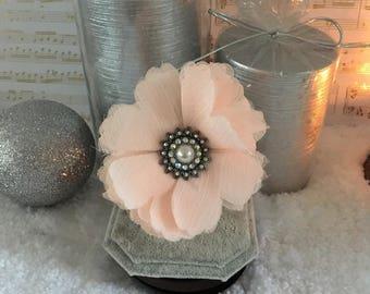 One of a kind bracelet. Floral stretch bracelet, beaded bracelet
