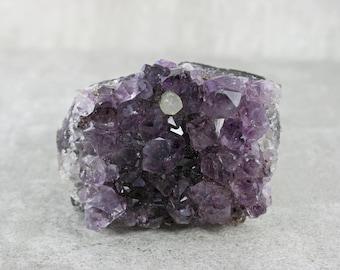 Amethyst Cluster/Dark Purple Amethyst Specimen/Rough Natural Amethyst Crystal Cluster/Chakra Stone/Collector Specimen/February Birthstone