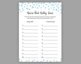 Christmas Baby Shower Games Name That Baby Tune Name That Etsy