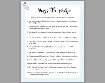 photograph relating to Pass the Prize Baby Shower Game Free Printable titled P the prize Etsy