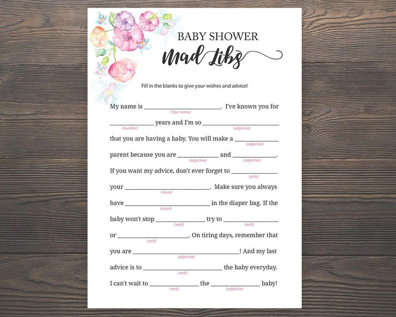 picture regarding Baby Shower Mad Libs Printable Free referred to as Boy or girl Shower Outrageous Libs, Kid Shower Video games, Red Boy or girl Shower, Child Madlibs, Printable, Little one Shower Tips Playing cards, Woman Little one Shower, S015