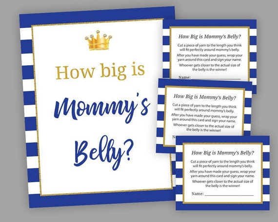 Royal Baby Shower Games How Big Is Mommy S Belly Game Etsy