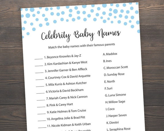 It's just an image of Celebrity Baby Name Game Printable pertaining to baby number three