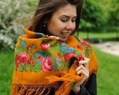 Vintage shawl Ginger passion