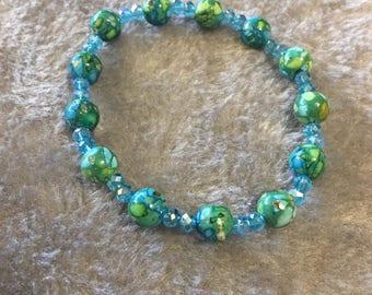 Greens and Blues Bracelets