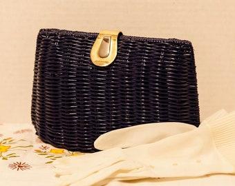Stunning Vintage MAGID Woven Navy Blue Evening Bag, Convertible Purse,  Clutch Purse, Shoulder Purse 2114b9cdf5