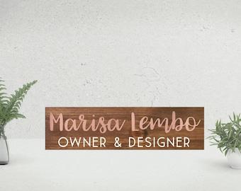 Personalized Desk Name Plate | Teacher Desk Sign | Wooden Name Sign | Wood Teacher Name Plate | Custom Office Name Sign | Gift For Teachers