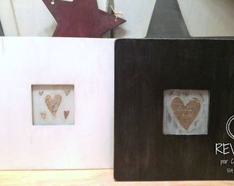 Heart of Birch wood - frame