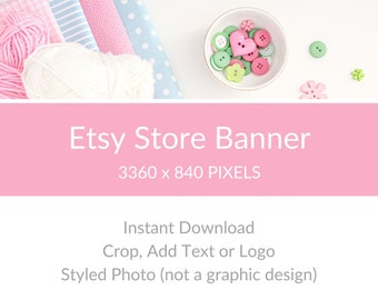 Sewing Photo for Etsy Store, Etsy Shop Image, Etsy Shop Photo, Etsy Store Big Banner, Etsy Store Cover Photo - Craft Supplies