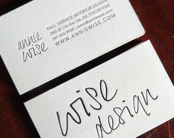 Letterpress Business Cards Etsy