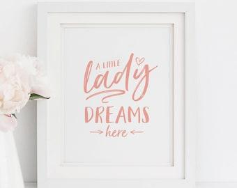 Kids room decor/ girls room wall art/ Dream Print/ Nursery Print/ Nursery Wall Art/ Nursery Decor/ Typography Print/ Printable Art