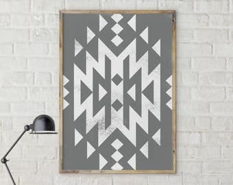 Trending now print, Above Bed Print, Nursery Print, Modern print, Geometric Print, Aztec Print, Printable Art, Grey Abstract Art, Tribal