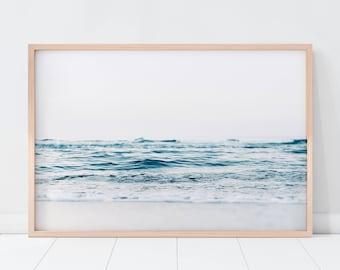 Ocean Print/ Beach Print/ Coastal Print/ Blue Water Print/ Tropical Print/ Printable Art/ Seascape Print/ Serene Print/ Ocean Waves Print