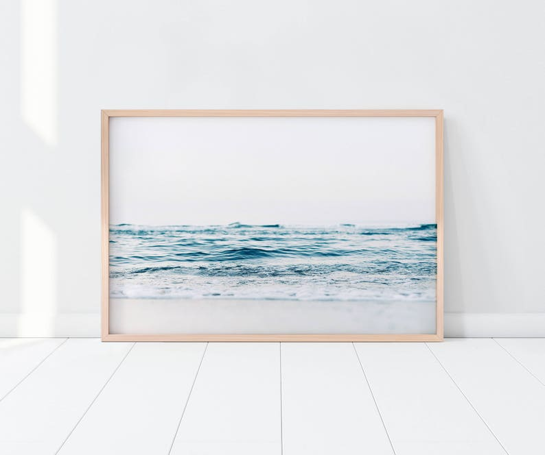 Ocean Print/ Beach Print/ Coastal Print/ Blue Water Print/ image 0