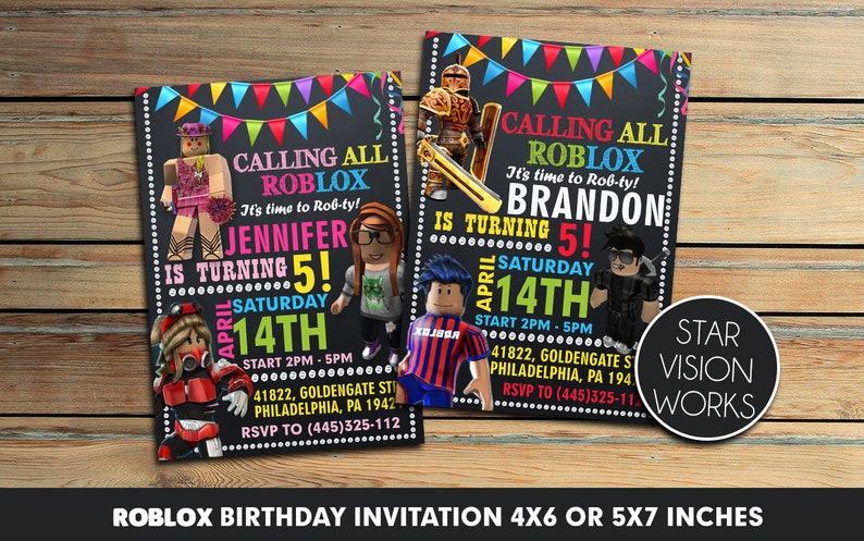 Roblox Birthday Invitation - Roblox Invitation - Roblox Party - Roblox  Printables - Roblox Birthday Party 4x6 - 5x7 - You print