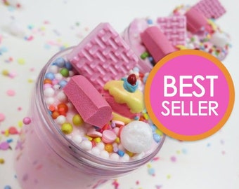 Strawberry Birthday Cake Slime with Charm (Scented) - SLIME