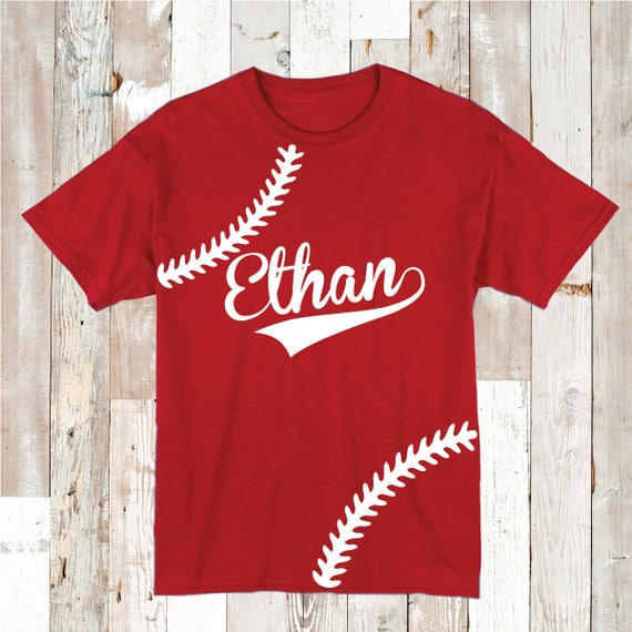 Baseball Stitch Sport Tee Tees Shirt Personalized