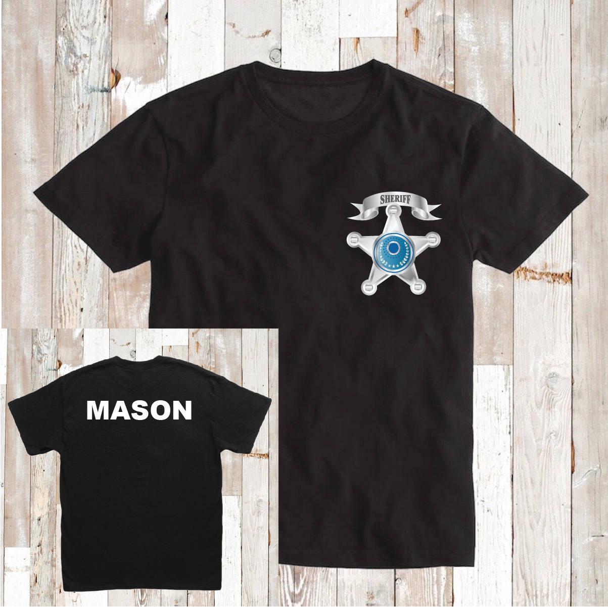 Police Shirt T Shirt Tee Front And Back Custom Birthday Etsy