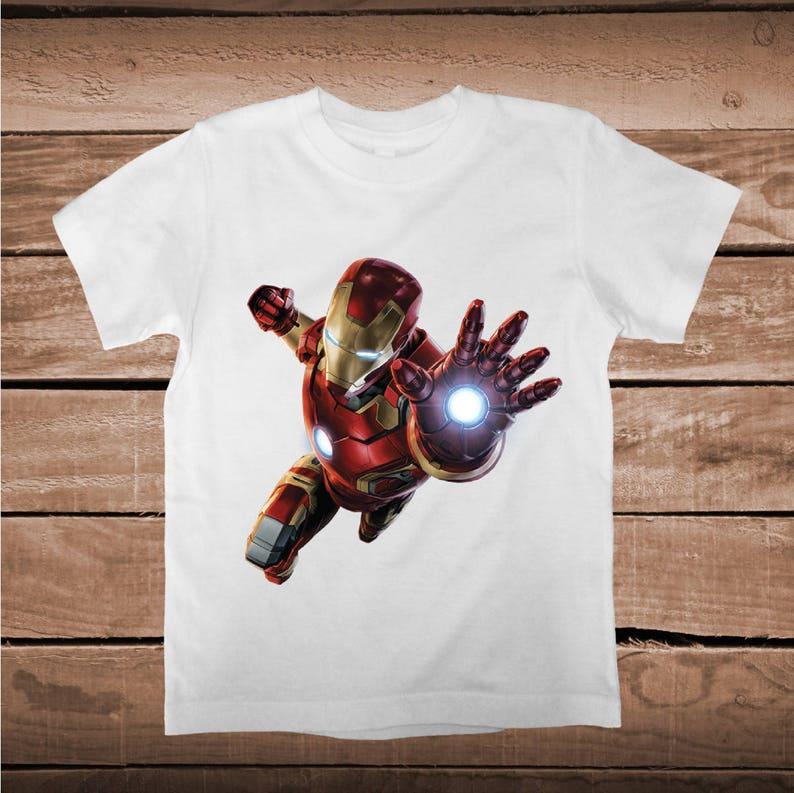 dd224cc28 Ironman Superheroe Tee Tees T-Shirt Baby Clothes Superhero | Etsy