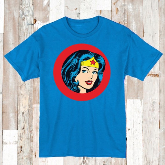 Wonder Woman Tee Tees T-Shirts Logo Wonder Woman Cool T-Shirt Design on Tee  for Boys and Girls Unique Wonder Woman Gifts Tee Shirts, aa68