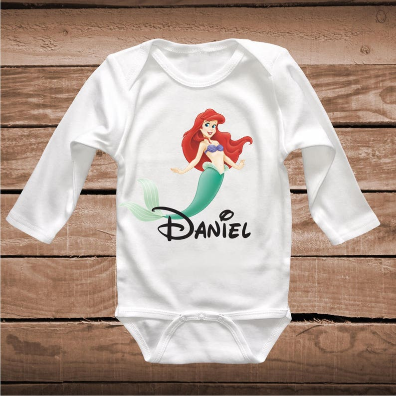 28f493bc55c0d Little Mermaid Tees T-Shirt Ariel Mermaid Baby Clothes Outfit | Etsy