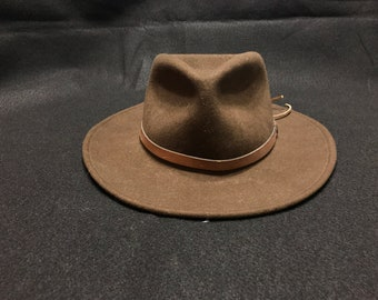 2a312170af8ce Vintage Brown Wool Dorfman Pacific Outback Crushable Hat Size Small