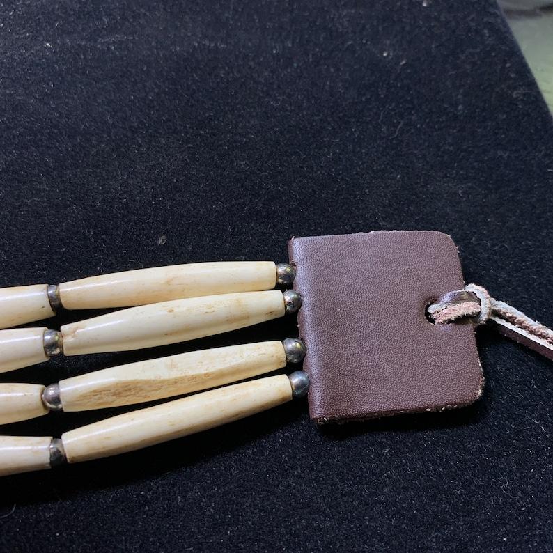 Native American Style Bone and Bead Choker