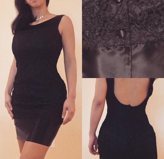 Datiani Vintage Lace Black Occasion Dress