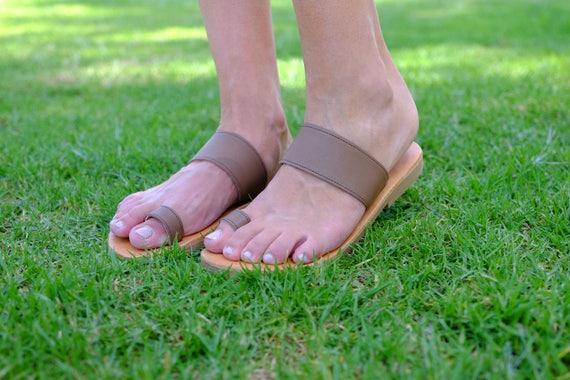 en cuir Flip marron cuir Flops v cuir chaussures en atYcwSqpY