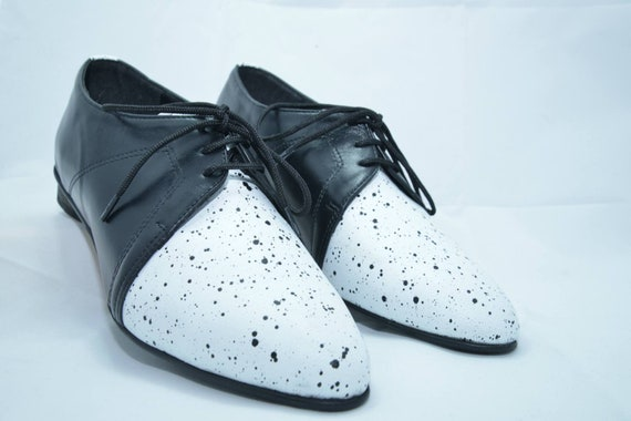 Large Shoes White Oxford Black Close Leather HandMade Shipping Free Shoes Dress Size Women Also Shoes amp; Shoes Shoes Flat Shoes 4OP5qf