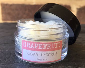 Grapefruit Vegan Lip Scrub, Natural Lip Scrub, Exfoliating Lip Scrub