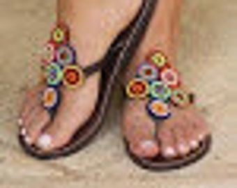 Very Special Hand Made Leather Sandals From Kenya