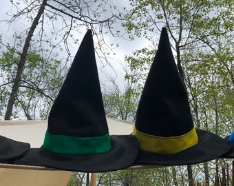 02fd50b181a00 Felt Witch ir Wizard hat with band