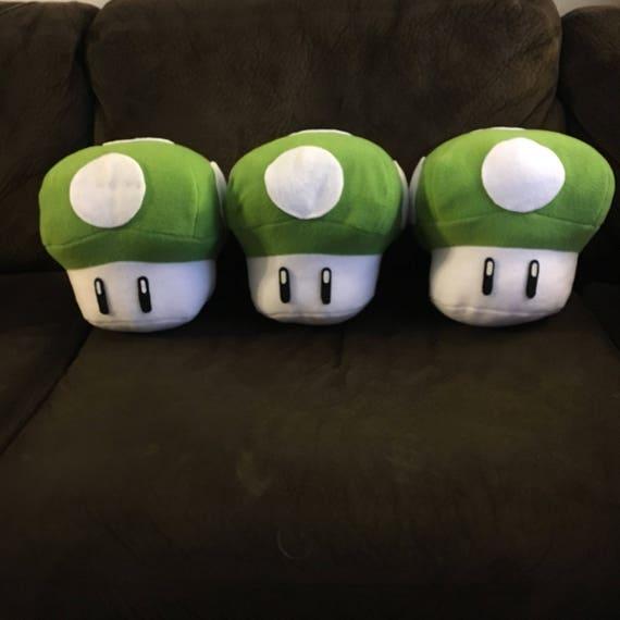 Super Mario Bros 1 Up Mushroom Plushie Pillow Etsy