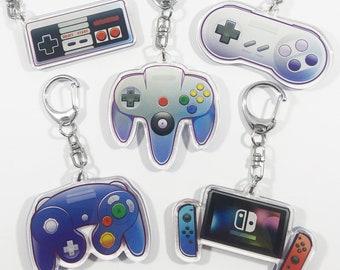 Nintendo Controller Keychain Charm