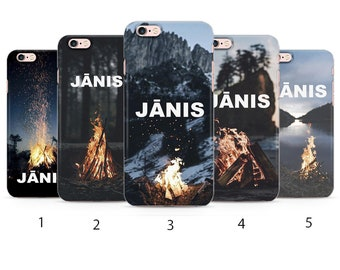 Jānis. Bonfire. Personalised case. Outdoor. Shorter night.  Midsummer. Gift for man . Design for iPhone Silicone Case  m102