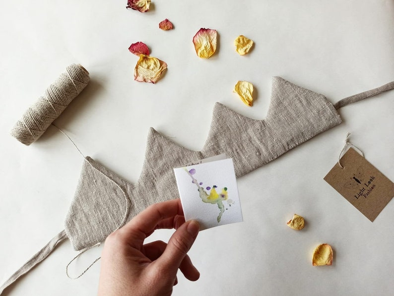Linen crown for kids