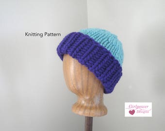 9a95218eac7 Super Chunky Hat Knitting Pattern