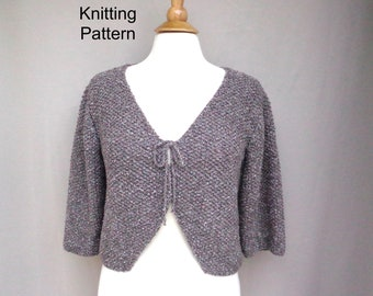 36262a757 Tie Front Bolero Knitting Pattern