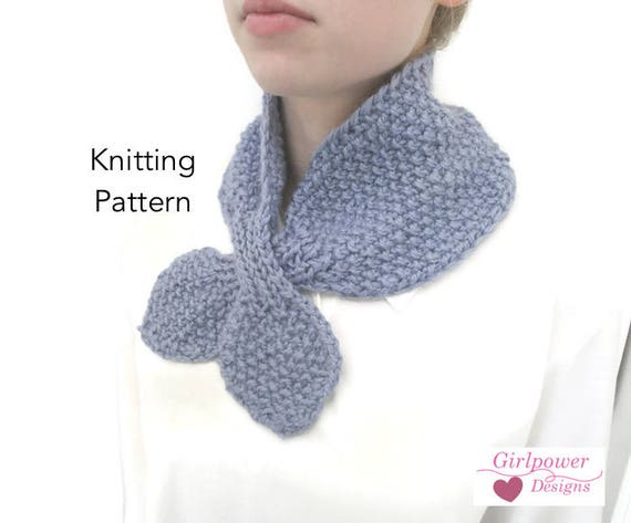 Cozy Ascot Scarf Knitting Pattern Quick Easy Chunky Yarn Etsy