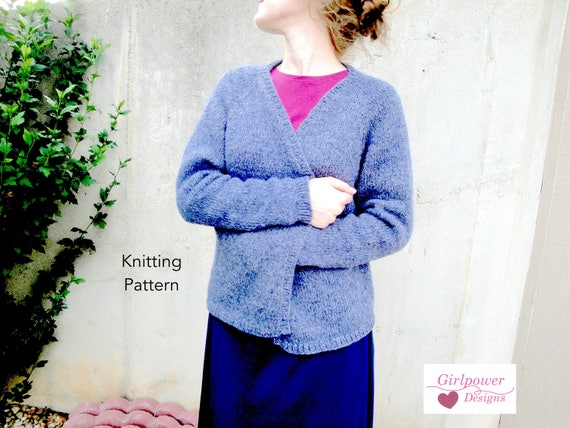 Chimalis Cardigan Knitting Pattern Relaxed Oversized Open Etsy