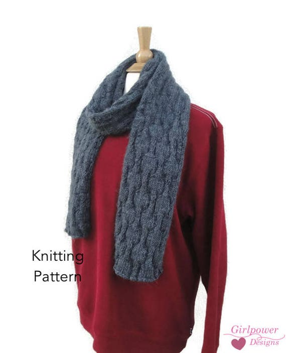 Stormy Billows Scarf Knitting Pattern Men or Women | Etsy