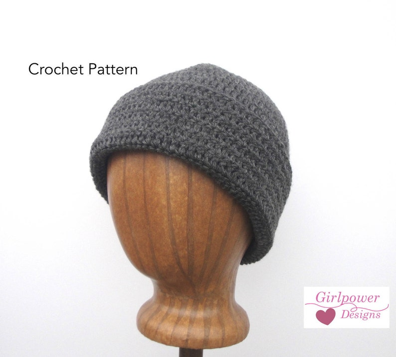 Crochet Watch Cap Pattern Beanie Hat Easy Crochet Pattern  a4e1f88bb7b