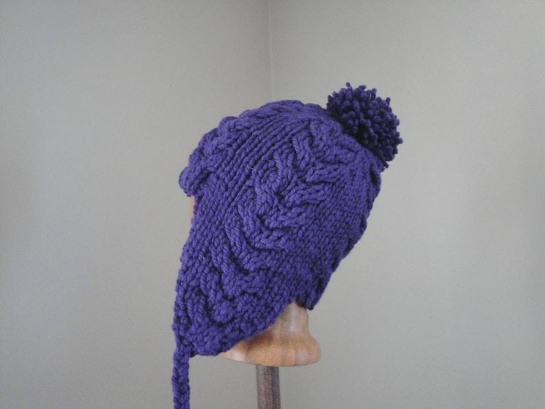 2be3f5e3309 Earflap Hat Knitting Pattern Super Bulky Yarn Quick Easy