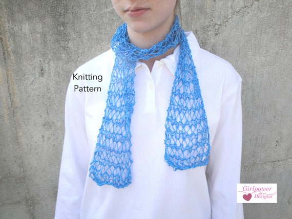 Easy Scarf Knitting Pattern Fishnet Scarf Beginner Knitter