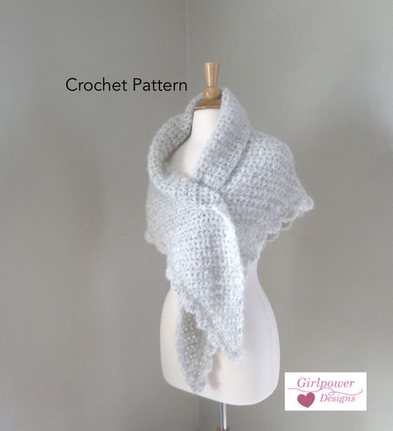 Crochet Shawl Wrap Pattern Side To Side Shawl Chunky Shawl Etsy
