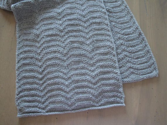 Chevron Scarf Knitting Pattern Ripple Scarf Sport Weight Etsy