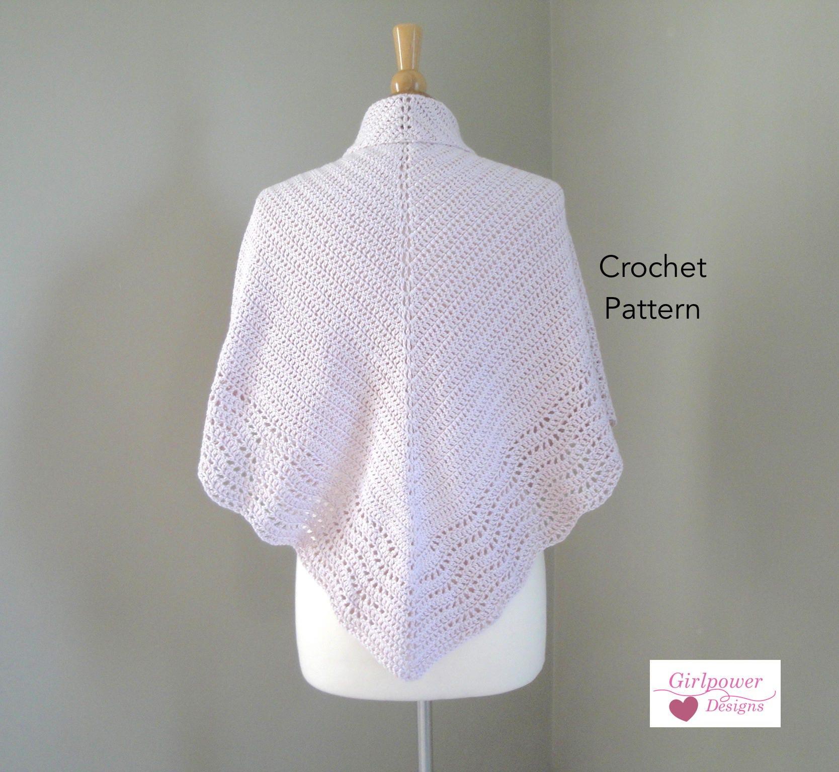 Crochet Shawl Pattern Crochet Pattern Double Crochet Etsy